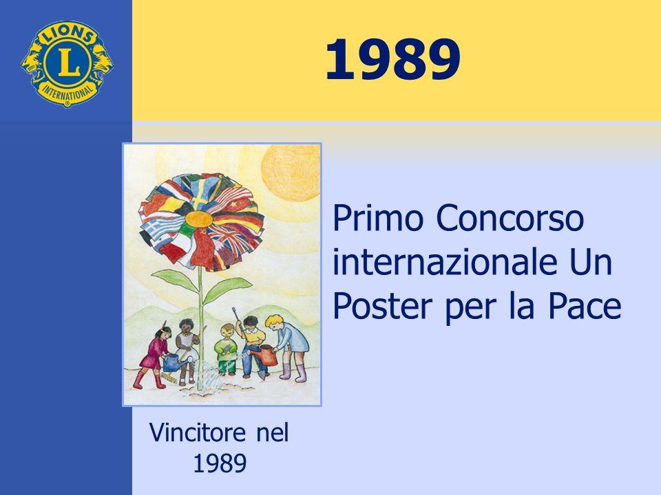 1989 Primo Concorso internazionale Un Poster per la Pace