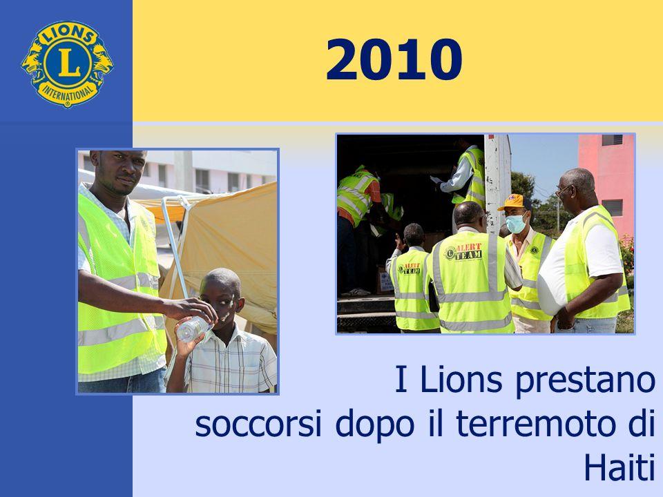 2010 I Lions prestano soccorsi dopo il terremoto di Haiti
