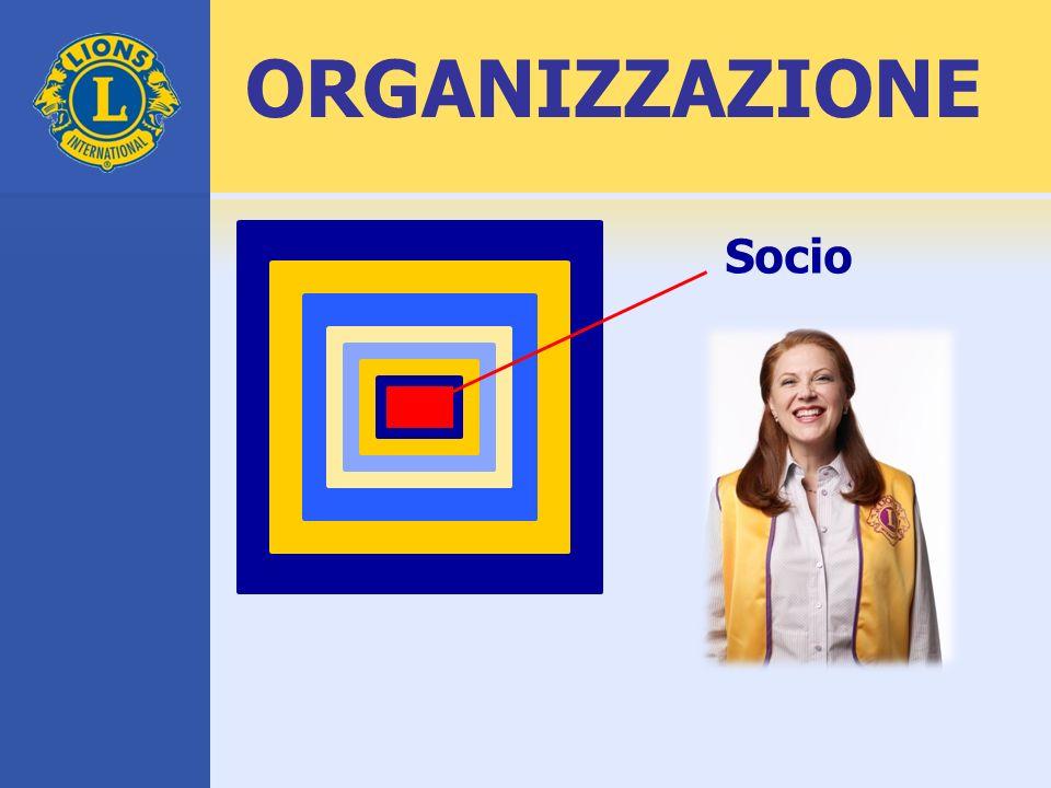 ORGANIZZAZIONE Socio. Questi quadrati concentrici rappresentano la struttura del Lions Clubs International.
