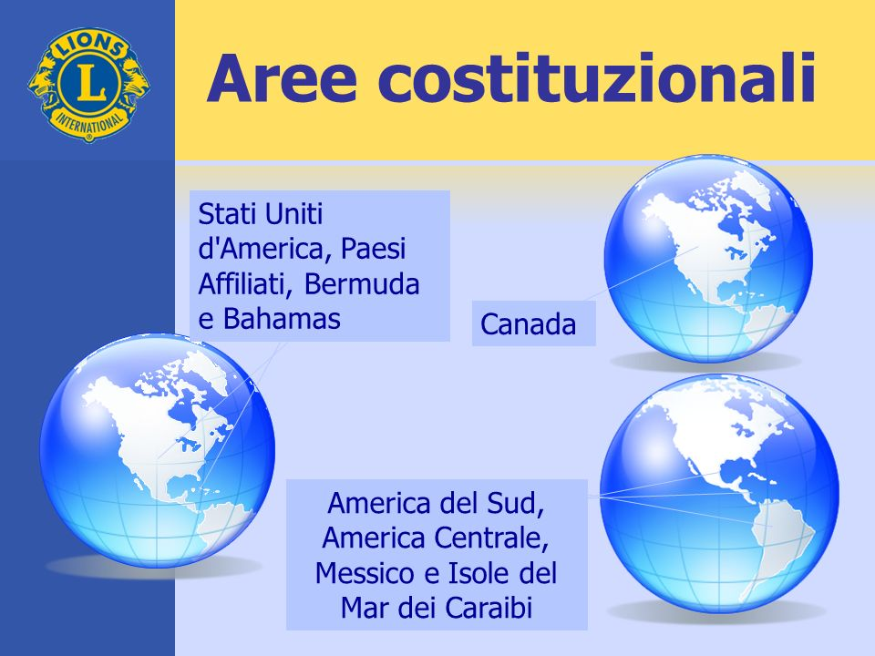America del Sud, America Centrale, Messico e Isole del Mar dei Caraibi