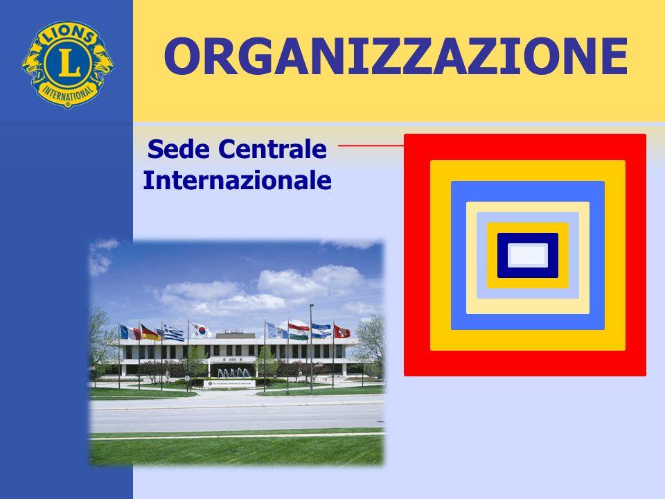 ORGANIZZAZIONE Sede Centrale Internazionale