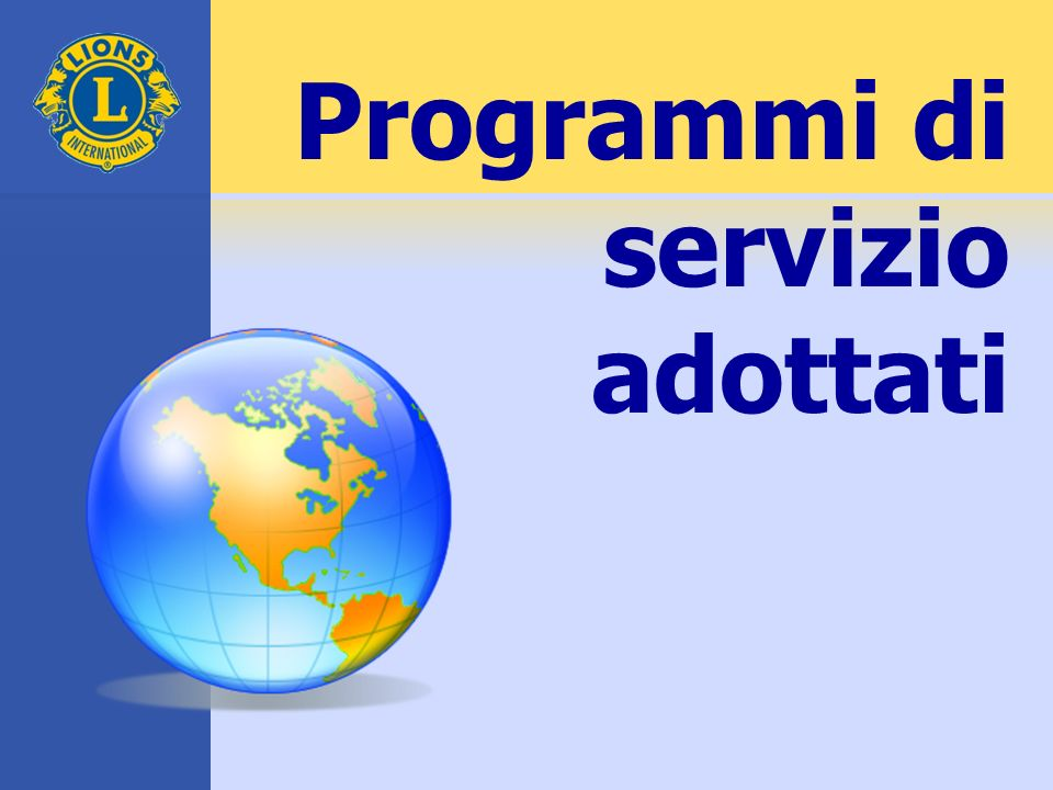 Programmi di servizio adottati