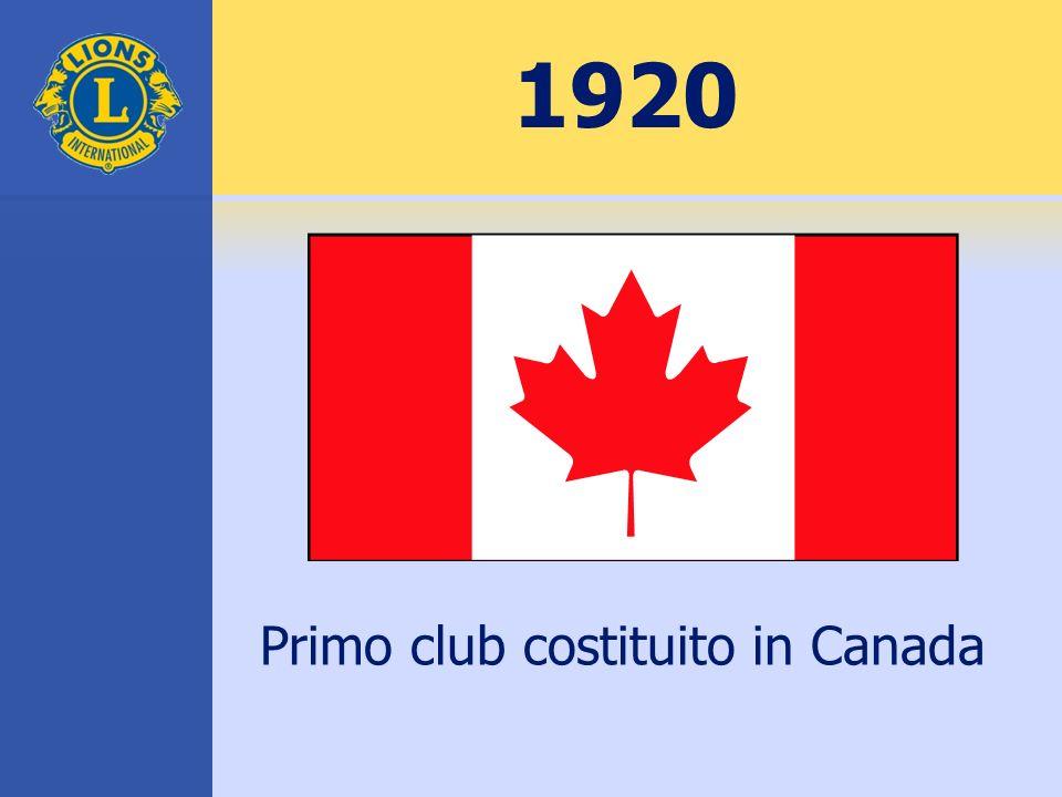 Primo club costituito in Canada