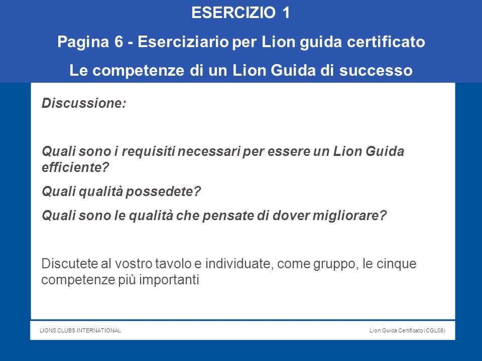Pagina 6 - Eserciziario per Lion guida certificato
