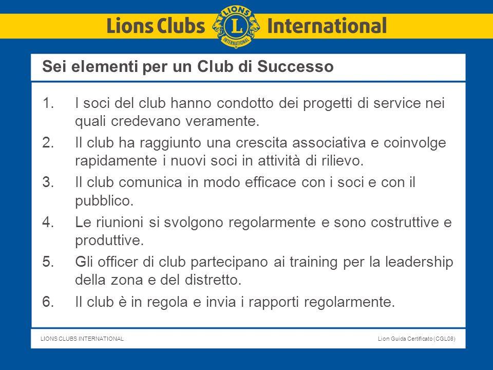 Sei elementi per un Club di Successo