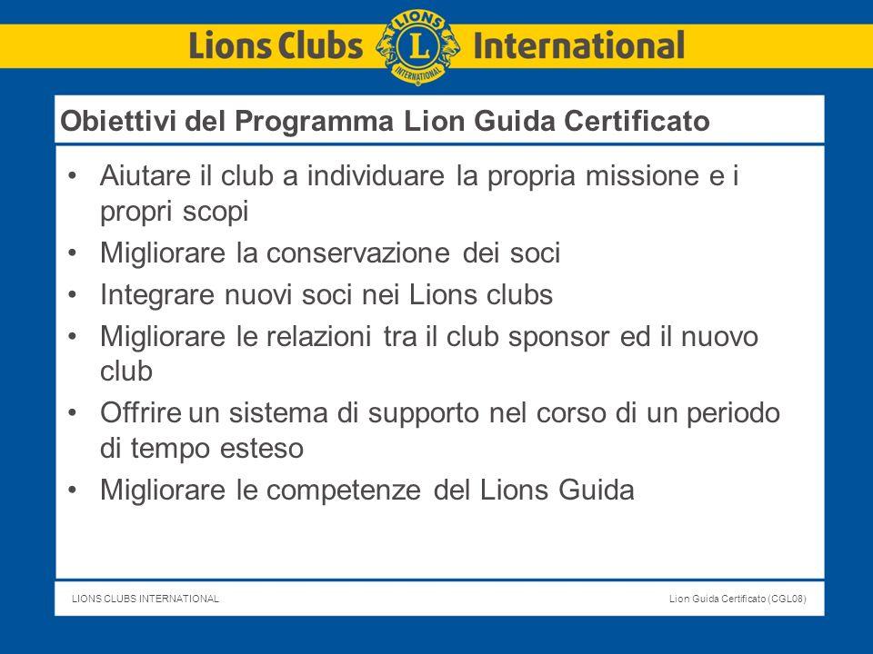 Obiettivi del Programma Lion Guida Certificato