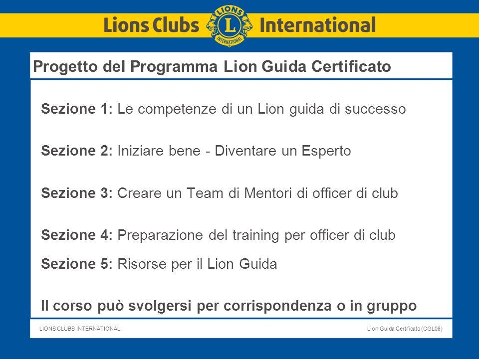 Progetto del Programma Lion Guida Certificato
