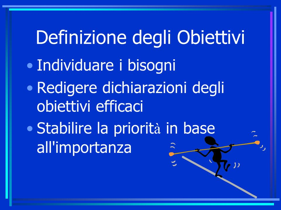 Definizione degli Obiettivi