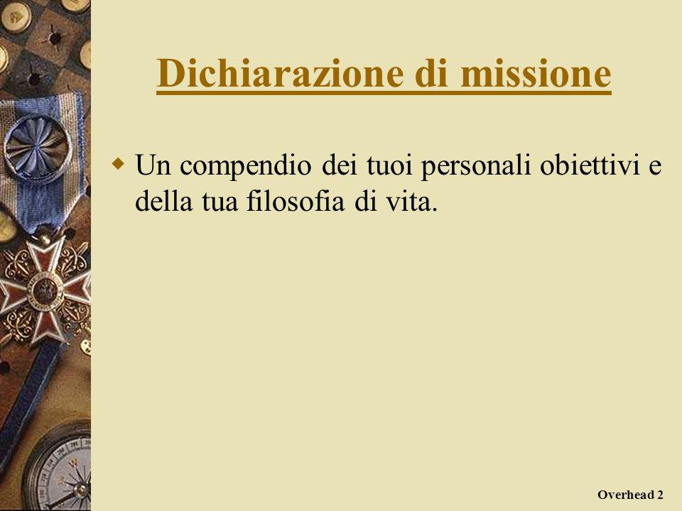 Dichiarazione di missione