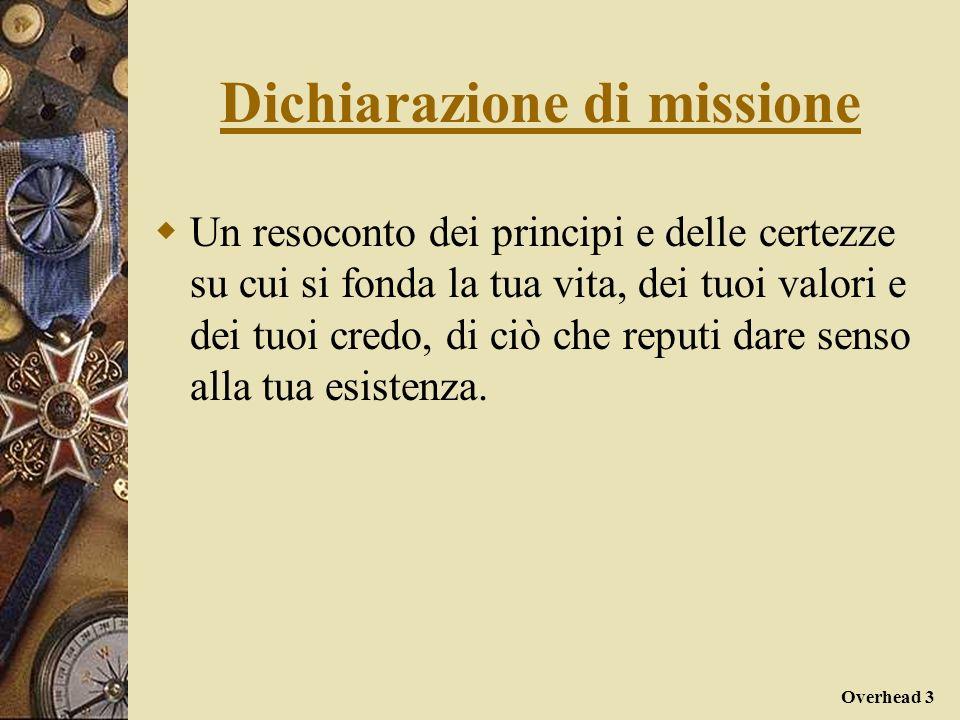 I vantaggi di un dichiarazione di missione: