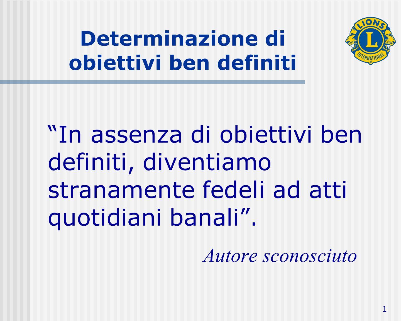 Definizione Un obiettivo è una meta specifica da raggiungere, tramite l'impegno comune .