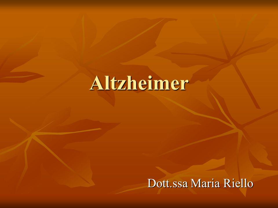 Altzheimer Dott.ssa Maria Riello