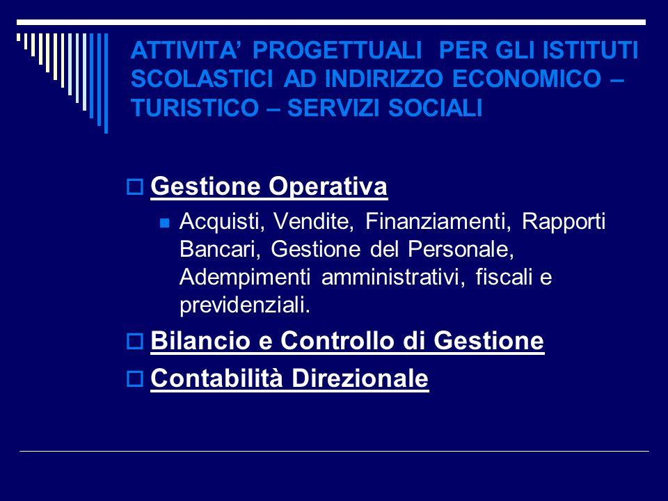 Bilancio e Controllo di Gestione Contabilità Direzionale