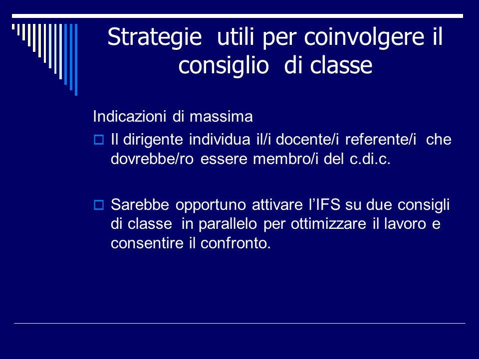 Strategie utili per coinvolgere il consiglio di classe