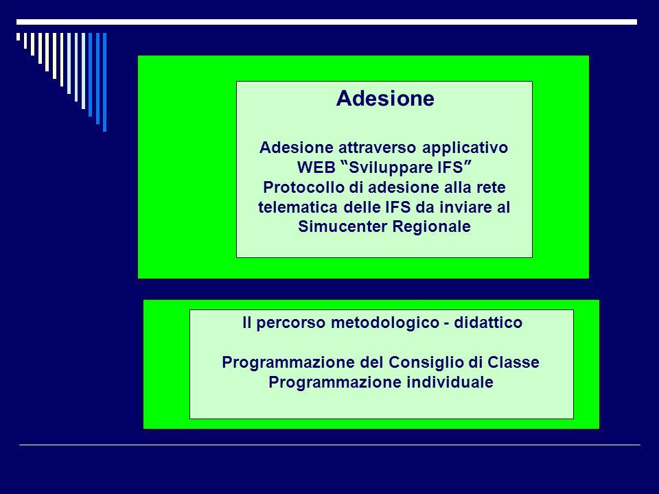 Adesione attraverso applicativo WEB Sviluppare IFS