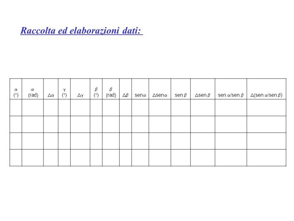 Raccolta ed elaborazioni dati: