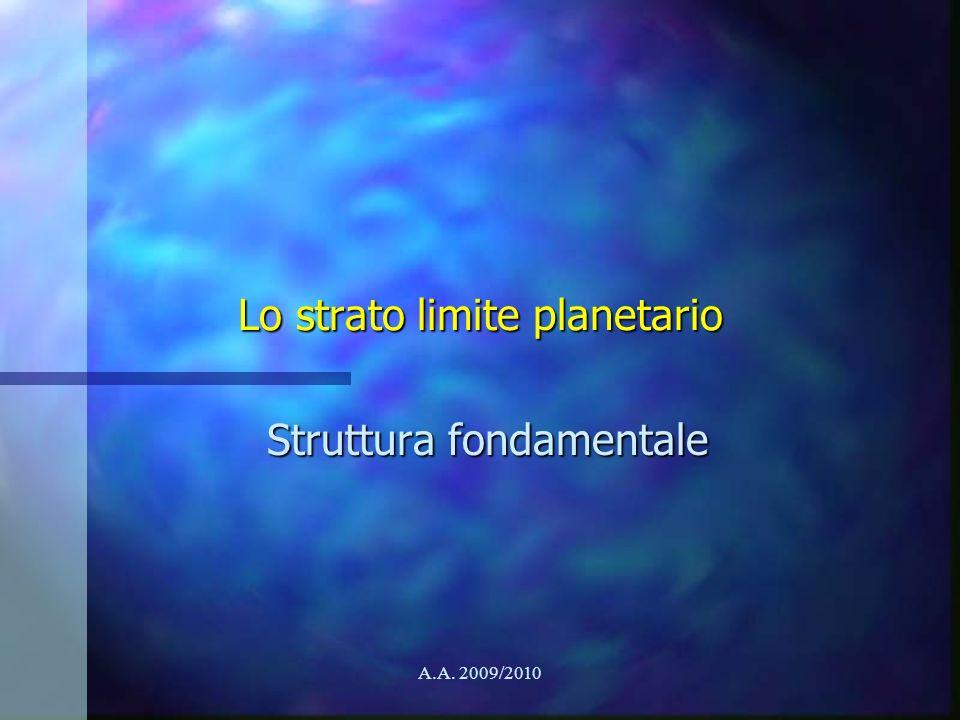 Lo strato limite planetario