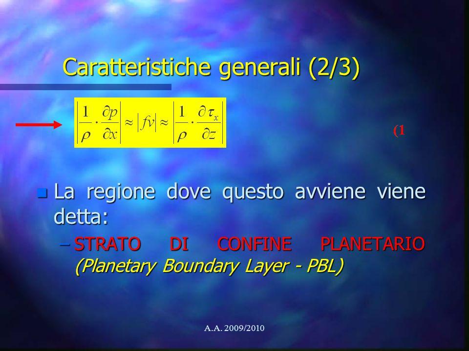 Caratteristiche generali (2/3)