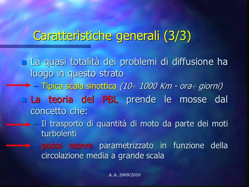 Caratteristiche generali (3/3)