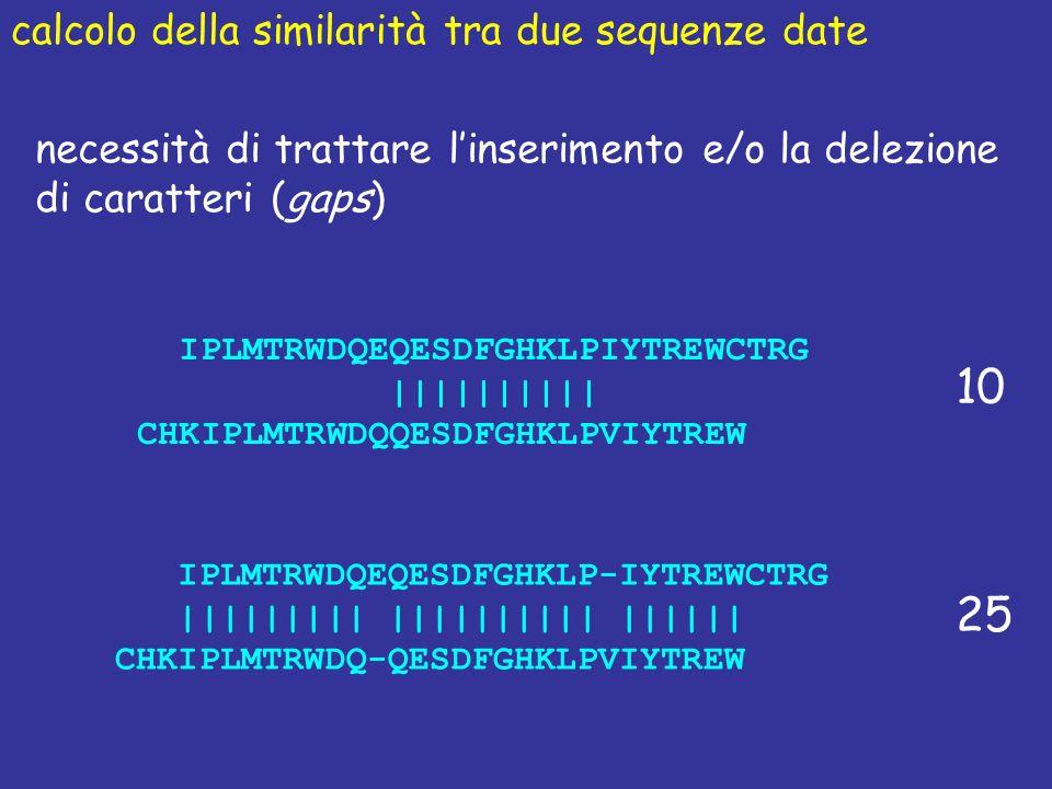 10 25 calcolo della similarità tra due sequenze date