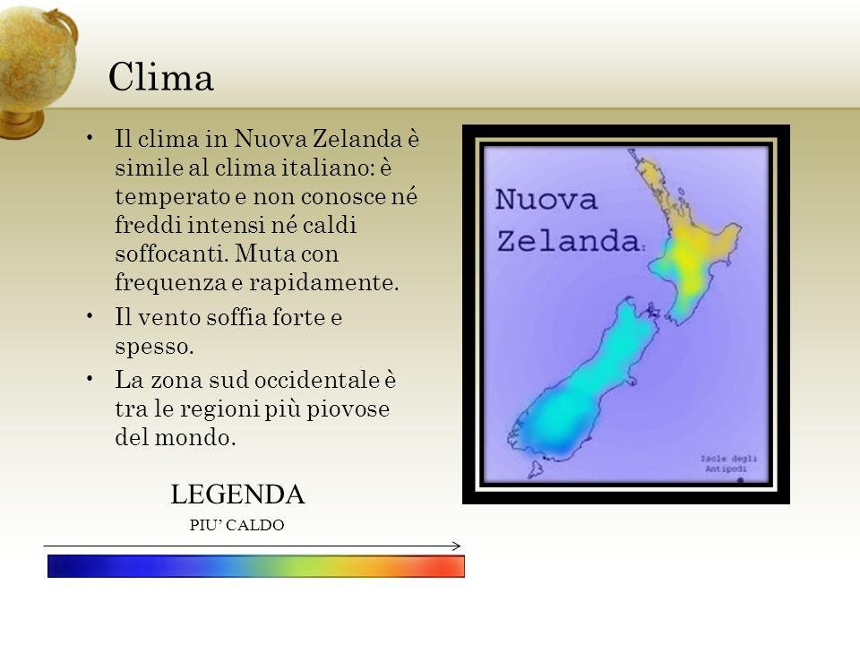Clima Inserire un immagine che rappresenti una stagione nel paese.