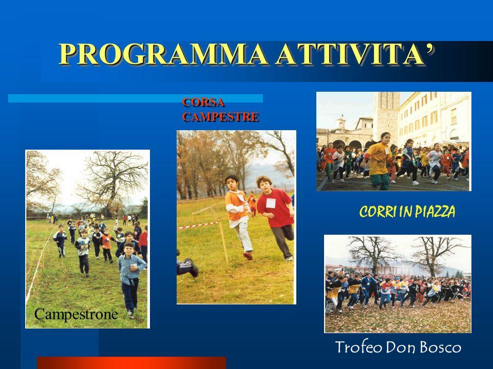 PROGRAMMA ATTIVITA' CORRI IN PIAZZA Campestrone Trofeo Don Bosco
