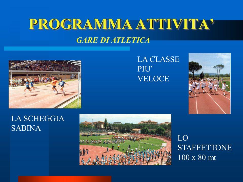 PROGRAMMA ATTIVITA' GARE DI ATLETICA LA CLASSE PIU' VELOCE