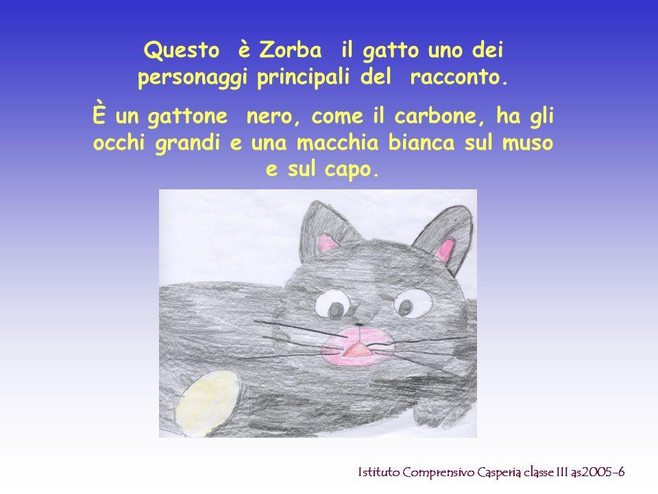 Questo è Zorba il gatto uno dei personaggi principali del racconto.