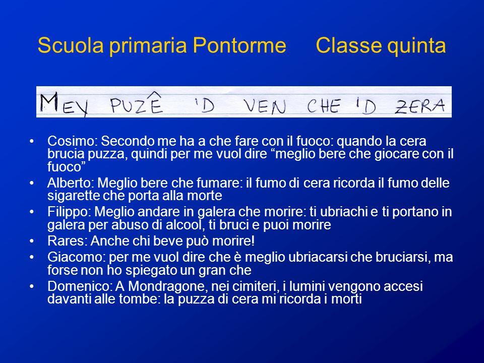 Scuola primaria Pontorme Classe quinta