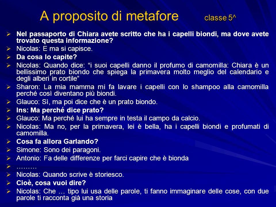 A proposito di metafore classe 5^