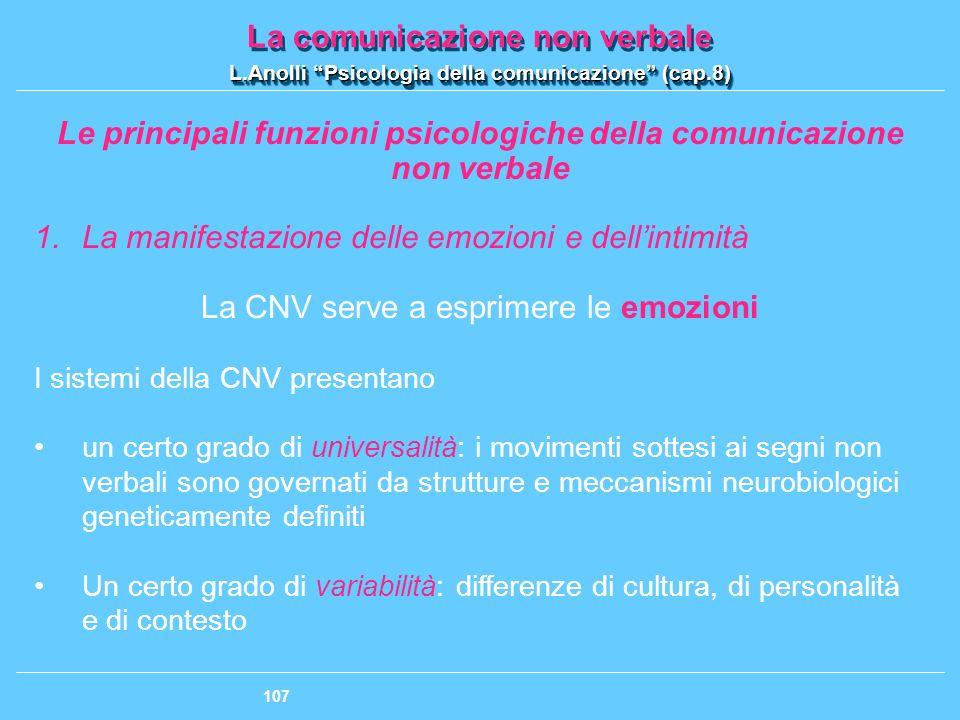 Le principali funzioni psicologiche della comunicazione