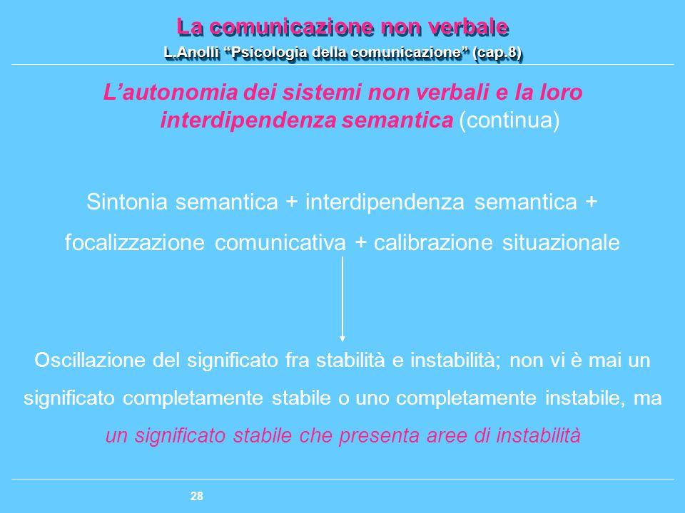 Sintonia semantica + interdipendenza semantica +