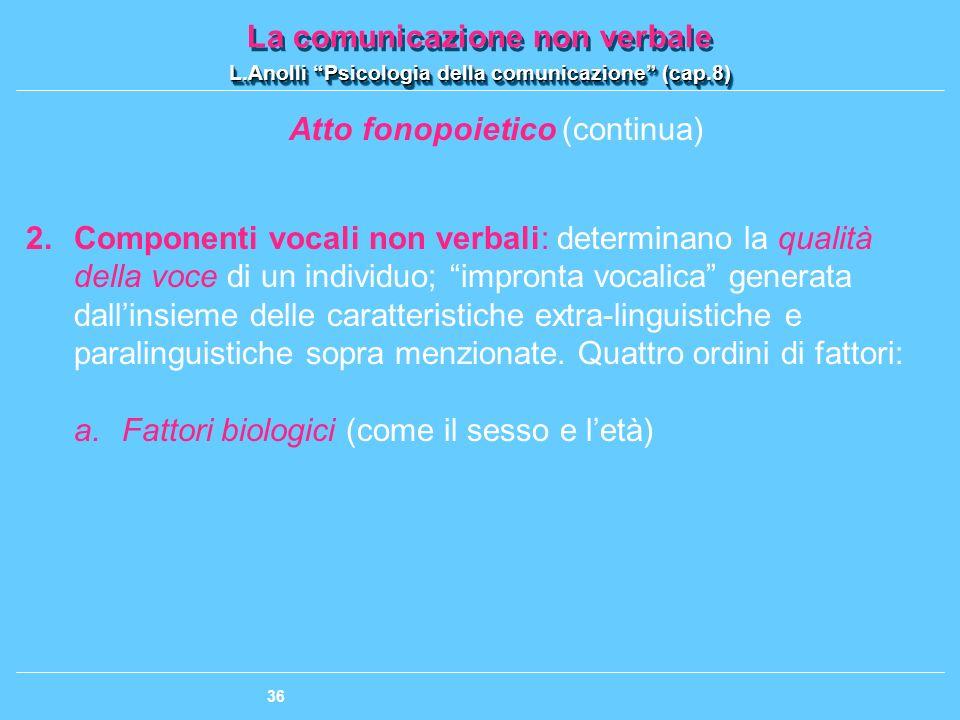 Atto fonopoietico (continua)