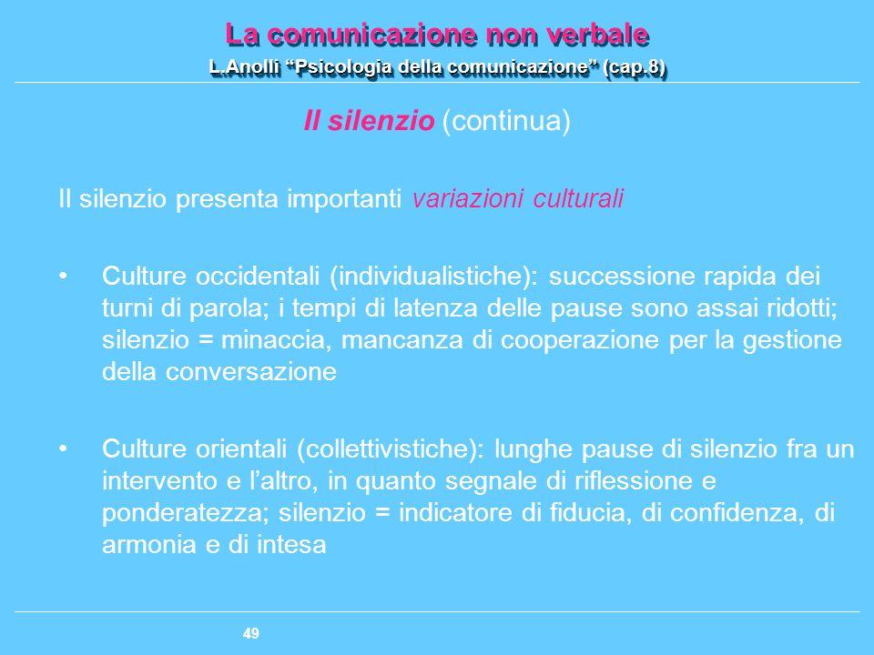 Il silenzio (continua)