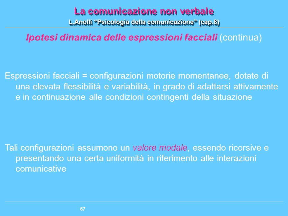 Ipotesi dinamica delle espressioni facciali (continua)