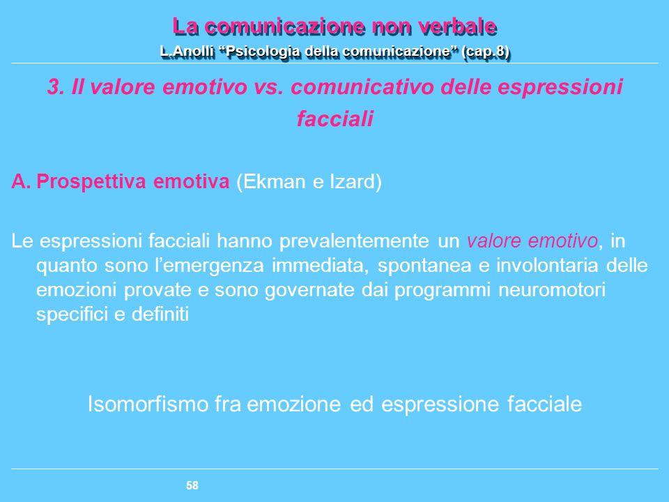 Il valore emotivo vs. comunicativo delle espressioni