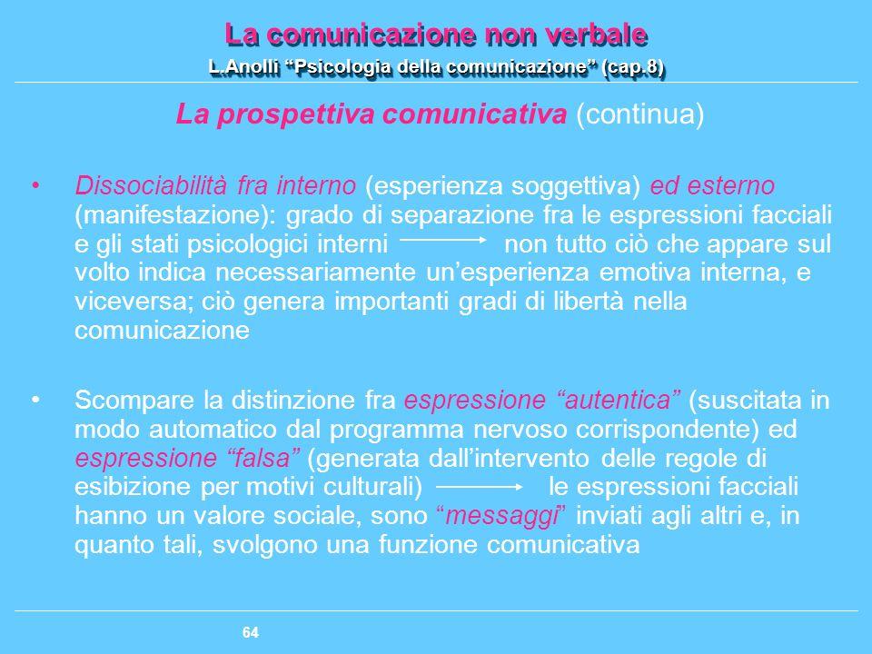 La prospettiva comunicativa (continua)