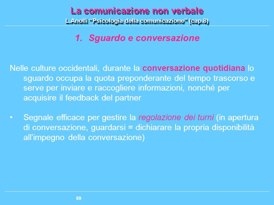 Sguardo e conversazione