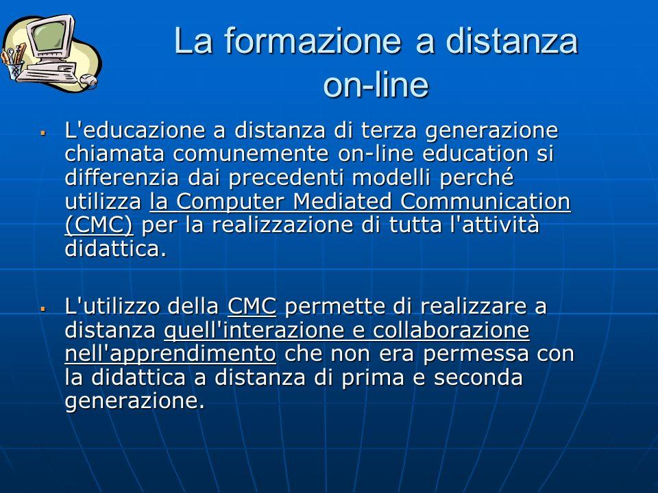La formazione a distanza on-line