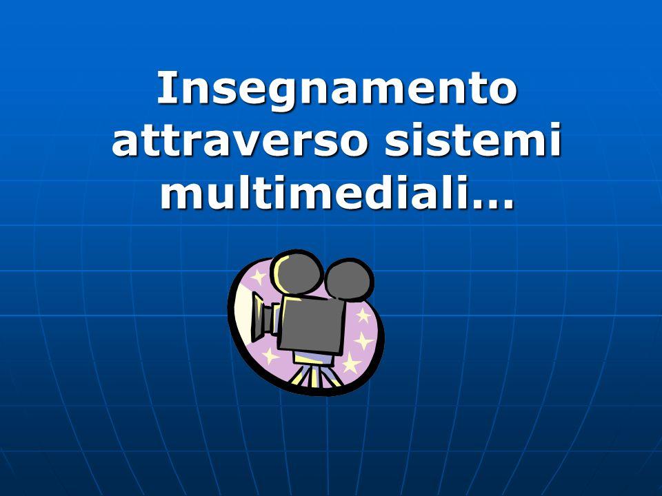 Insegnamento attraverso sistemi multimediali…