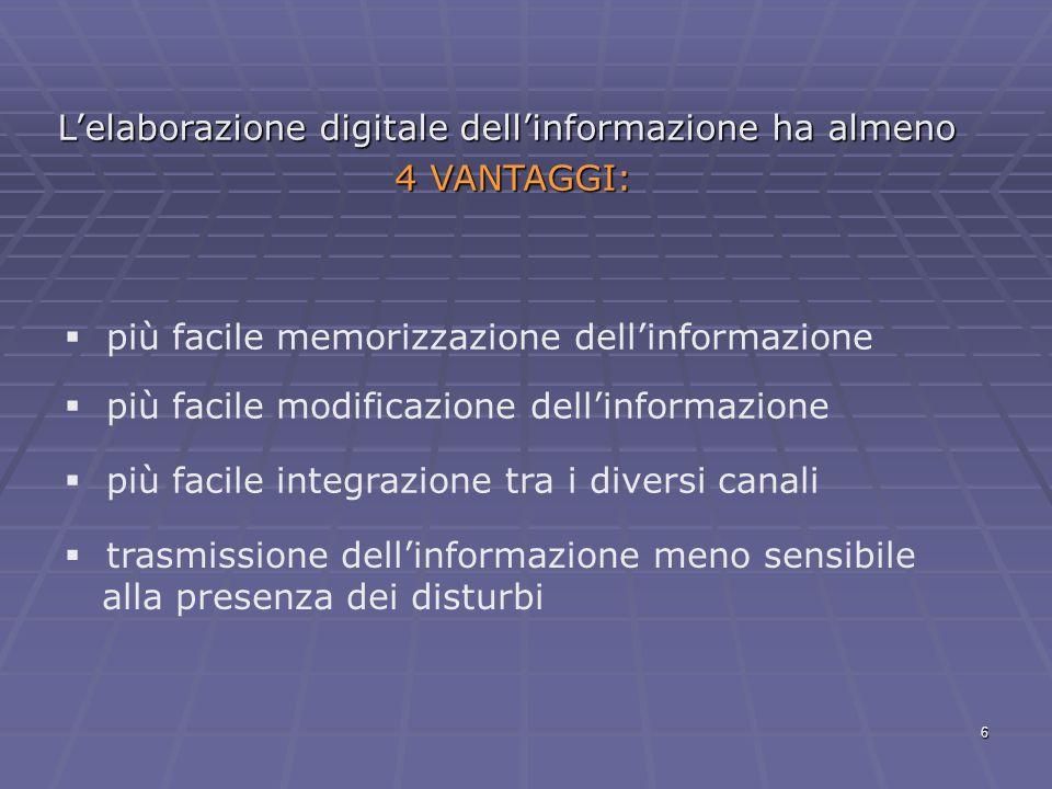 L'elaborazione digitale dell'informazione ha almeno
