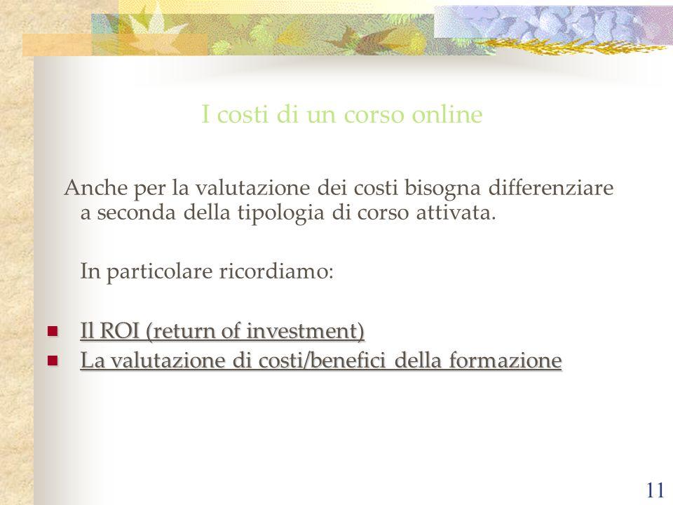 I costi di un corso online