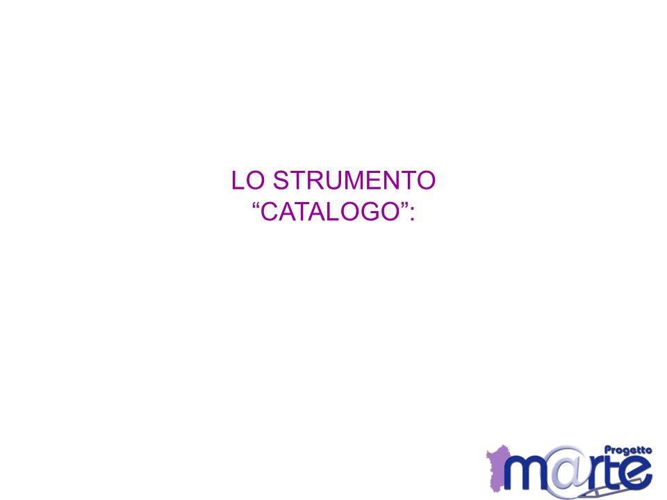 LO STRUMENTO CATALOGO :