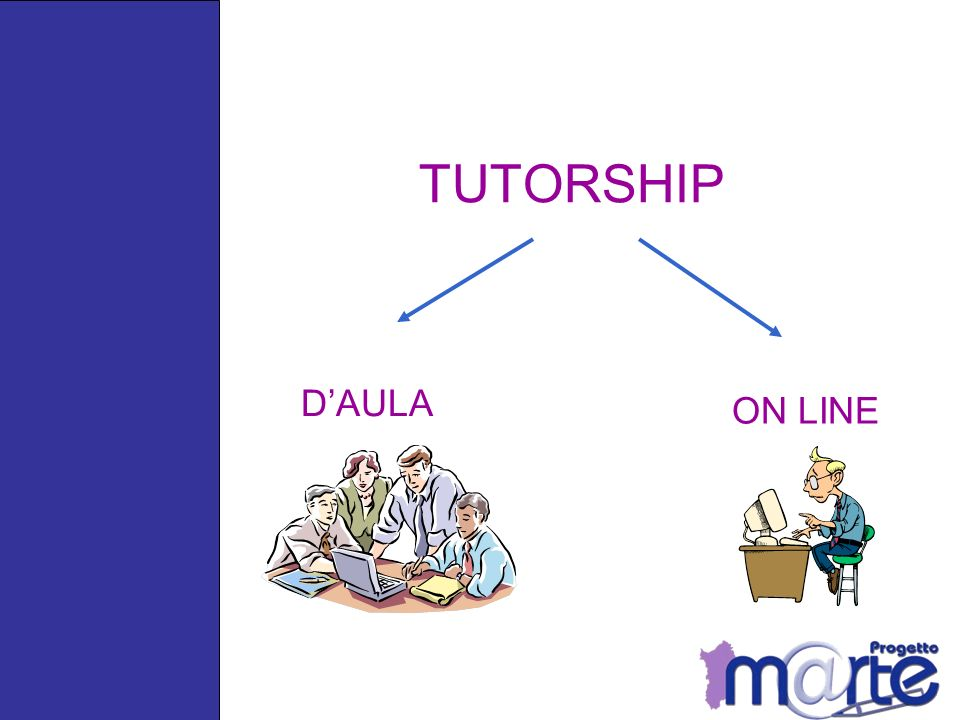 TUTORSHIP D'AULA ON LINE