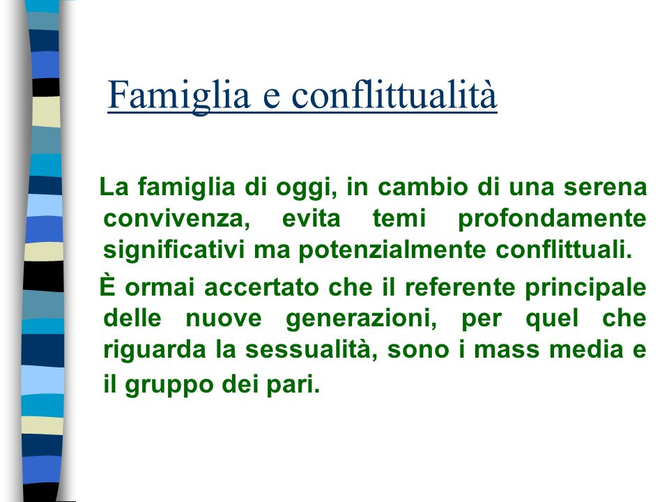 Famiglia e conflittualità