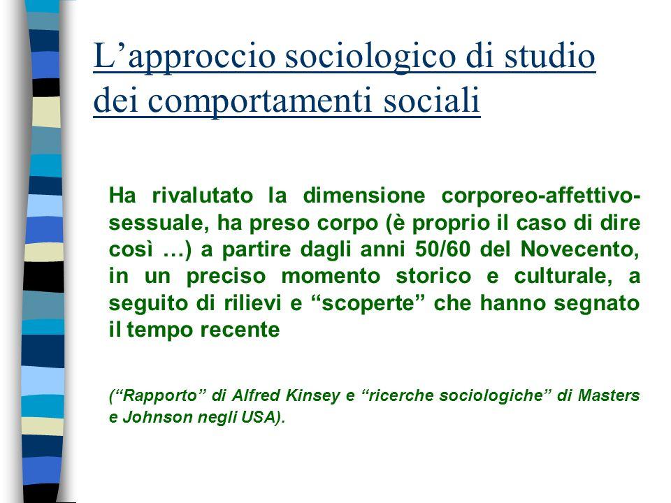 L'approccio sociologico di studio dei comportamenti sociali