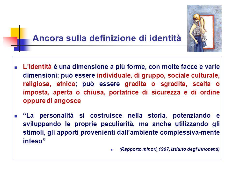 Ancora sulla definizione di identità