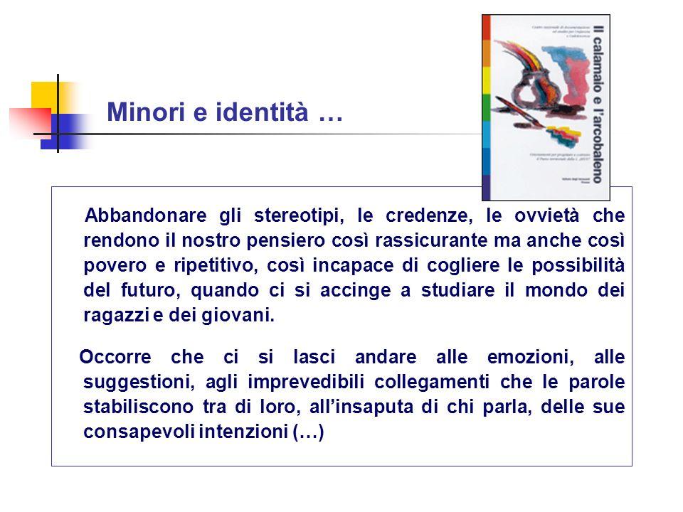 Minori e identità …