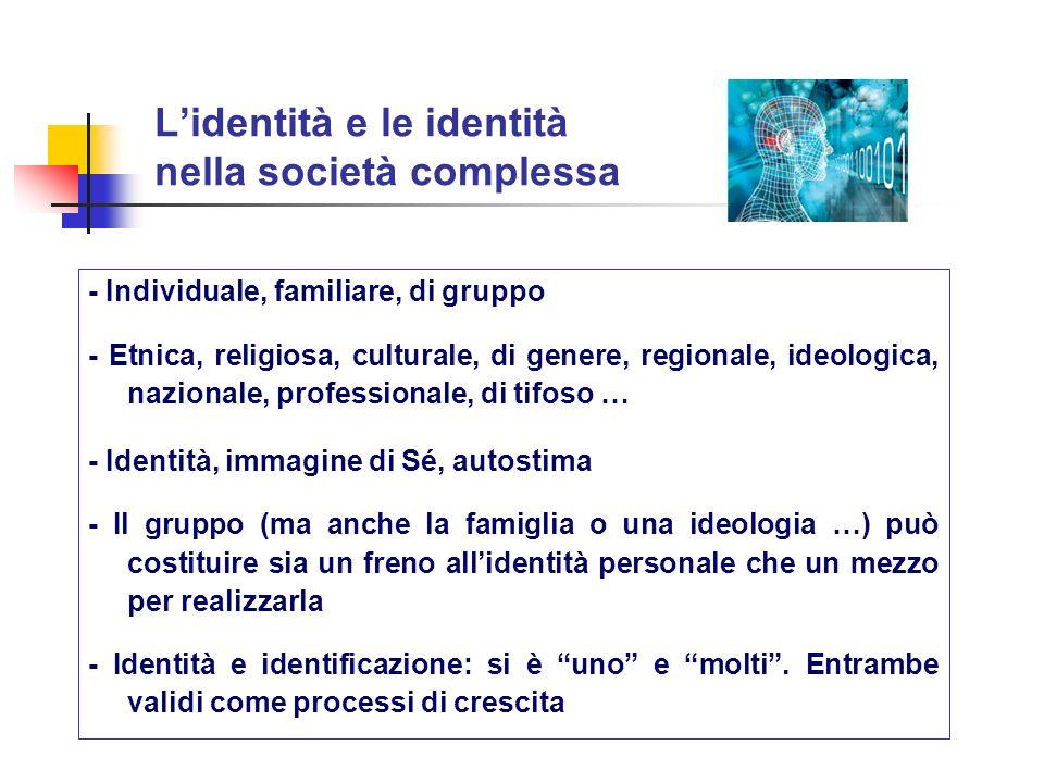 L'identità e le identità nella società complessa