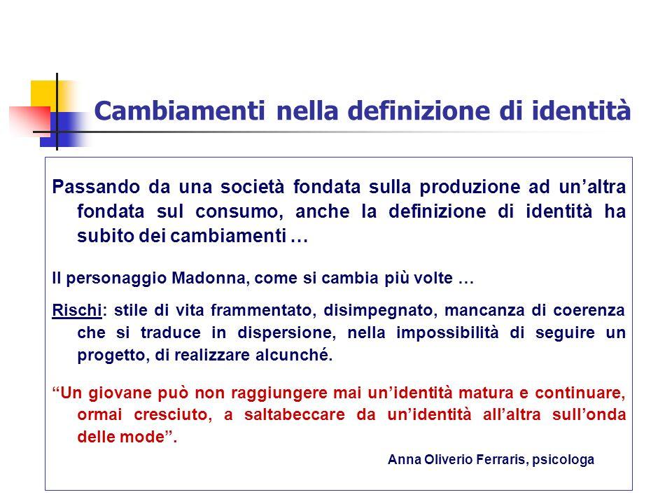 Cambiamenti nella definizione di identità